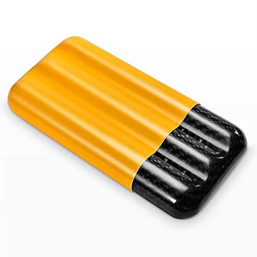 Estuche Cigarrillos Portátil, Soporte Puros Estuche Puros Fibra Carbono Exquisito Tubo Puros Material Aviación Estuche Puros Portátil Ultraligero, Duradero, Portátil Llevar (Color: Rojo)