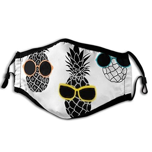 Unisex Masken Ananas tragen Bunte Sonnenbrillen Sommer Stoff Mundabdeckung Maske für das Laufen im Freien