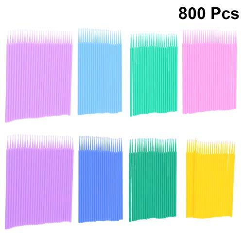 Lurrose Lot de 800 pinceaux jetables en plastique pour extensions de cils
