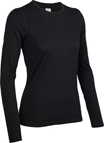 Icebreaker Damen Funktionsunterhemd Oasis Langarm Crewe, black, XS, 100514