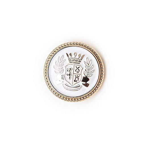 Accessori per abiti 5pcs round intagliato distintivo smalto smalto bottoni in metallo cucito scrapbook giacca giacca blazer maglioni regali artigianato in mano abbigliamento 15-25mm per decorazioni ar