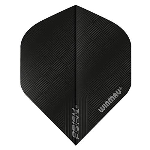 WINMAU Prism Delta Black Extra Dicke Dart Flights - 1 Sätze pro Packung (3 Flights insgesamt)