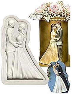 S.Han Silicone Wedding Couple Fondant mouls Mold Cake Decoration Tool Baking Chocolate Clay Art Craft Resin