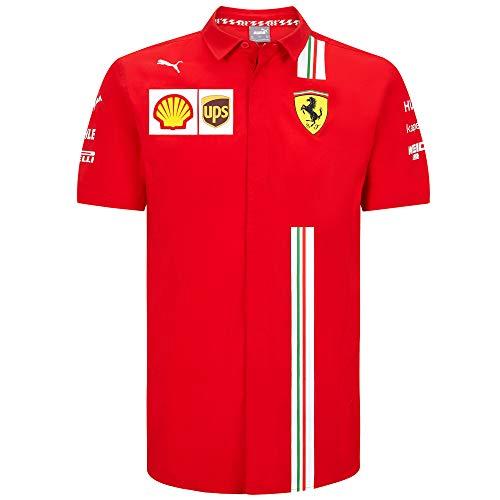 2020 Scuderia Ferrari F1 Team T-Shirts Vettel Leclerc in Herren-, Damen-, Kindergrößen, Ferrari F1 Team Trikot, Herren (S) Brust 88-92 cm