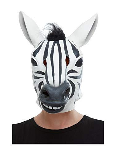 Smiffys 50882 Zebra Latex Masker, Mannen, Zwart & Wit