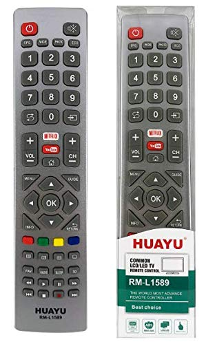 Telecomando sostitutivo per TV Sharp - Funziona con TUTTI i televisori Sharp – Il telecomando sostitutivo ideale