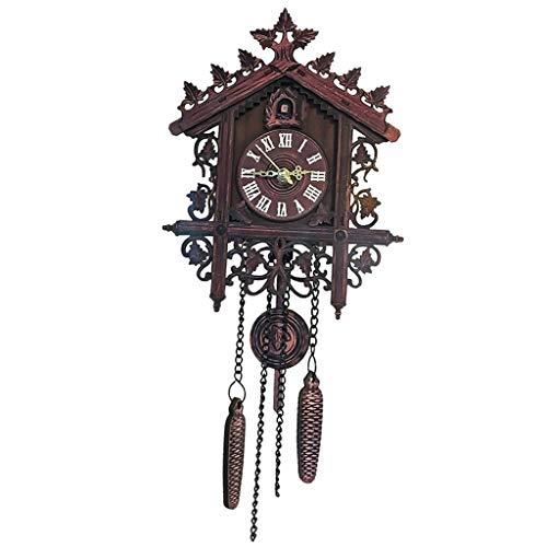 Homyl Reloj de Pared Silencioso Reloj de Cuco, Estilo Vintage de Madera Colgante Decoración Sala de Estar - 1