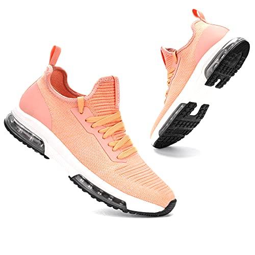 LARNMERN PLUS Baskets Mode Femme Doux Léger Running Chaussures Orange 41