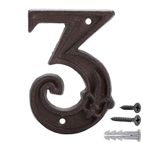Números para Casas de Hierro Fundido 2,Dirección de La Casa Número ,Números de forja para indicar la numeración de las casas