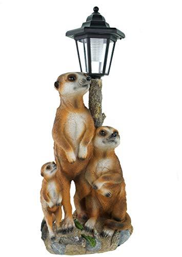 Lámpara con panel solar con diseño de familia de suricatos, figura para...
