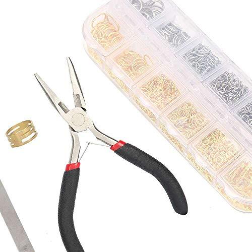 YuKeShop Suministros de joyería, kit de fabricación de joyas multifuncional, profesional para hombres, herramienta de reparación de joyas para mujeres