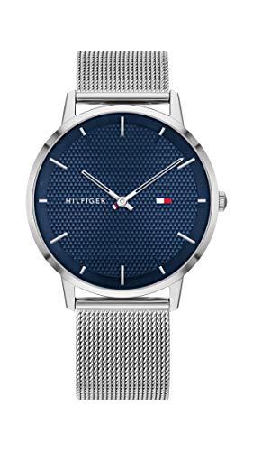 Tommy Hilfiger Herren Analoger Quarz Uhr mit Edelstahl Armband 1791663