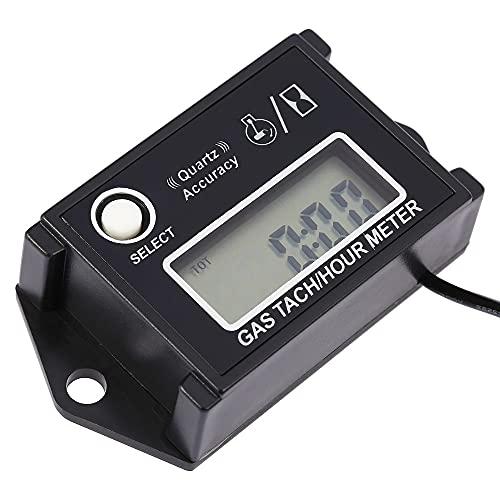 Zwbfu Tacómetro digital LCD, tacómetro y contador de tiempos, comprobador RPM para motores de 2/4 tiempos