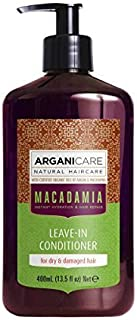 Arganicare Hydrating Macadamia Leave in Conditioner for Dry and Damaged Hair Enriched with Organic Argan Oil and Macadamia Oil (13.5 Fluid Ounce) by Arganicare