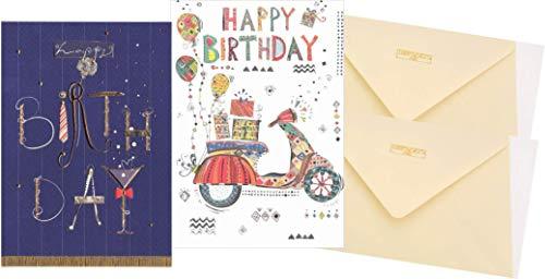 Set van 2 wenskaarten voor verjaardag - hoogwaardige verjaardagskaarten met envelop Turnowsky (2 stuks)