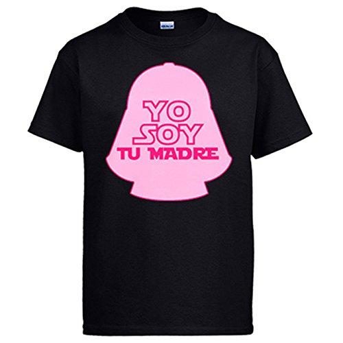 Diver Camisetas Camiseta Yo Soy tu Madre Parodia Darth Vader - Negro, L