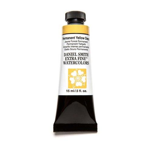 DANIEL SMITH Extra Fine Watercolor Paint, 15ml Tube, Permanent Yellow Deep, 284600133