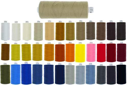 zipworld Polyester - Nähgarn 1000 Meter/Rollen in 4 Stärken erhältlich (1-schwarz-799, Stärke 50 - Jeans & Ledergarn)