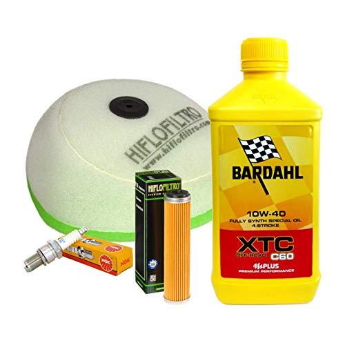 Kit de revisión Bardahl XTC 10W40 filtro aceite aire bujía Beta Enduro RR 350 520
