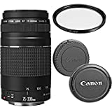 Canon EF 75-300mm f/4-5.6 III Telephoto Zoom Lens with UV Filter (Renewed)