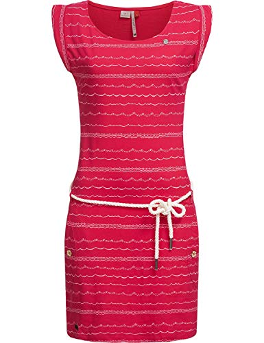 Ragwear Damen Kleid Dress Sommerkleid Strandkleid Jerseykleid Freizeitkleid Tag Waves Raspberry20 Gr. L