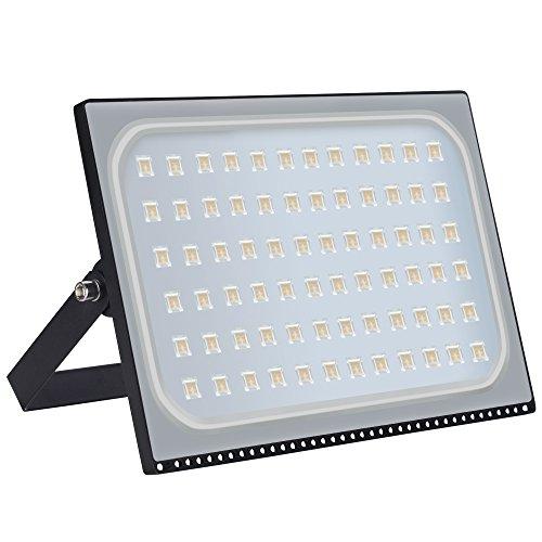 Foco LED para exteriores, de 10 - 500 W, IP67, resistente al agua, foco de 120 grados, lámpara de pared, iluminación exterior para jardín, plaza, patio, fábrica, Luz blanca cálida., 500W