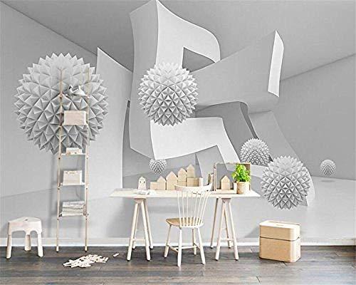 XHXI Moderno 3D bola arquitectura abstracta espacio foto moderna papel tapiz 3D para sala de estar sofá TV Fon Pared Pintado Papel tapiz Decoración dormitorio Fotomural sala sofá mural-300cm×210cm
