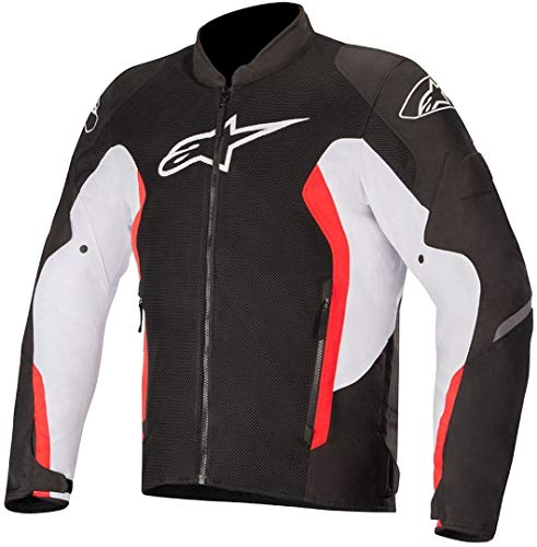 Alpinestars Men's Viper V2 Air Motorcycle Jacket, Black/White/Red, X-Large