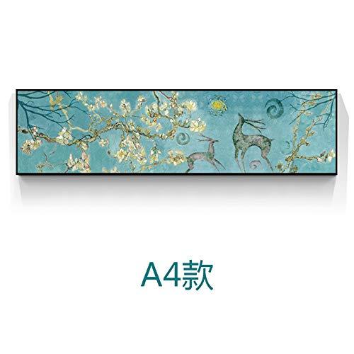 WSNDGWS Pintura Decorativa de Estilo nórdico Elk Moderno Minimalista Sofá Fondo Pintura de Pared Dormitorio Banner Sin Marco B3 35x120cm