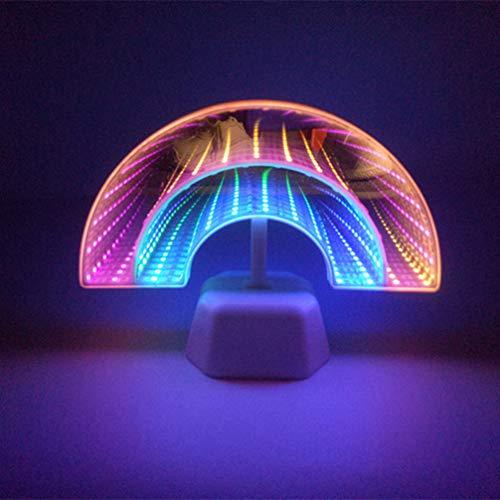 Mobestech Infinity Spiegel Verlichting Regenboog Dubbelzijdig Led Tunnel Lamp Decoratieve Tafel Verlichting Voor Thuis Slaapkamer Woonkamer Party Bar Cafe