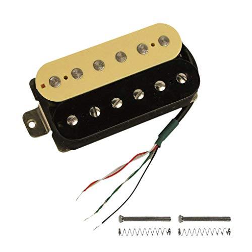 CUHAWUDBA Fonocaptor Humbucker De Guitarra Eléctrica Fonocaptor Alnico V Para Punete (Cebra + Negro)