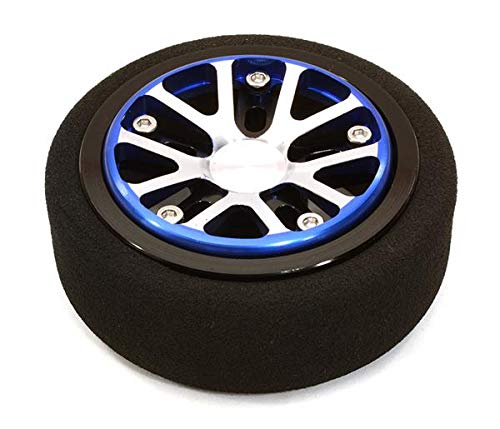 Integy RC Model Hop-ups C26897BLUEBLACK Billet Aluminum T3 Steering Wheel for Futaba 3PV 4PL S 4PV 4PX 4PX R 7PX Radios