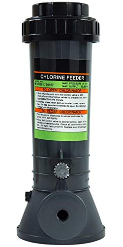 Rx Clear Automatic Chlorinator | for Above Ground Swimming Pools | Off-line Chemical Chlorine Feeder | Holds Up to 4 Pounds of Slow Dissolving Chlorine Tablets
