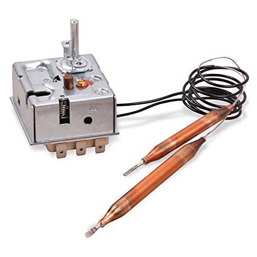 Thermostat Regler Ersatz für EGO 55.60019.380 Stiebel Eltron 170925 mit Sicherheitstemperaturbegrenzer und 2 Fühlern für Wasserspeicher Heißwasser-Wandspeicher Temperaturregler Begrenzer