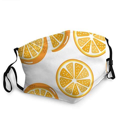 ZVEZVI Orange Slice Bio gesunde Lebensmittel und Getr?nke Gesichtsschutz wiederverwendbar, waschbar Stoff, Gesichtsschutz, Paar bequeme waschbare Maske