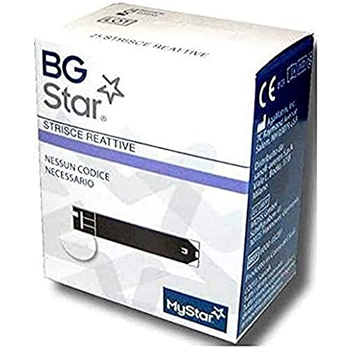 Strisce Reattive Per Misurazione Della Glicemia Per Diabetici Bgstar Strisce Reattive 25 Pezzi