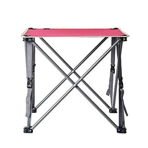 PULLEY-C - Mesa plegable para exteriores, portátil, de tela Oxford, de pícnic, luz silvestre (rojo C