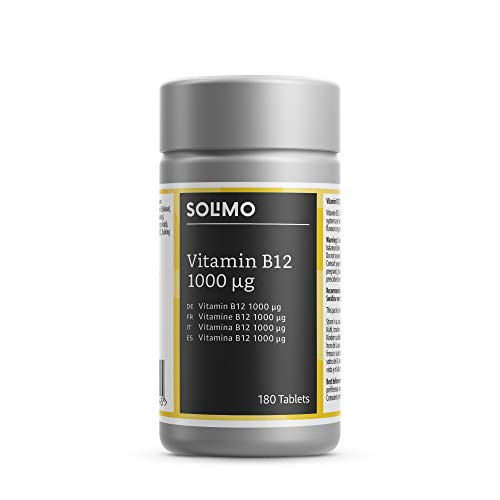 Solimo Vitamin B12 1000 mcg Food Supplement, 180 each