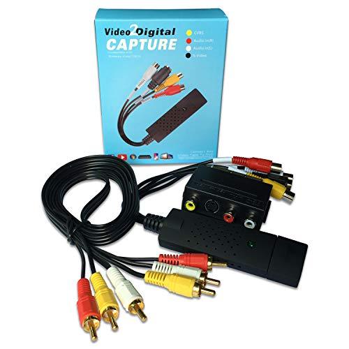 Convertidor de Video y Audio USB 2.0 de Tarjeta con Cable de...