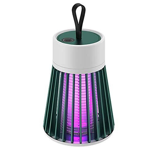 Gmjay Eléctrico Bug Zapper Mosquito Lámpara USB Trampa de Luz Fly Bug Insect Killer Hogar Control de Plagas Repelente Jardín al Aire Libre,Green