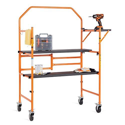 VonHaus Mobile Scaffold Platform - Mini Work Platform - Portable with...