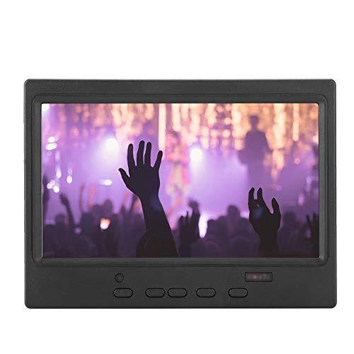 Tangxi 7-Zoll-LCD-IPS-Monitor, 16: 9 1024 * 600-Multifunktionsdisplay-Unterstützung für HDMI/VGA/AV-Eingang mit klappbarer Halterung für Raspberry Pi, Auto-Display, für Videoüberwachung(EU)