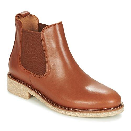 Bensimon Boots Crepe Stiefelletten/Boots Damen Cognac - 41 - Boots Shoes