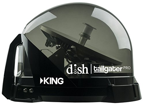 KING VQ4900 DISH Tailgater Pro Portable/Roof Mountable Satellite TV Antenna (for use with DISH)