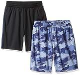 Amazon Essentials – Pantalones cortos de malla para niño (2 unidades), Camuflaje / negro, US 4T...