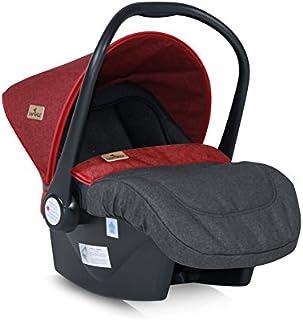 Silla de bebé Lorelli Grupo de salvamento 0+ (0-13 kg), capota parasol, cubrepiés, color:negro/rojo