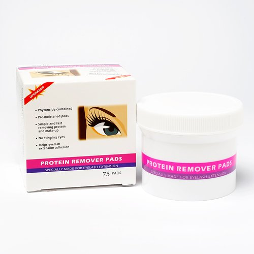 Eyelash Extensions Make Up & Protein Remover Pads Max2 75pc kit / Individual Eyelash Extensions / Semi Permanent Eyelash Extensions / Fake Eyelashes / Eyelash Extension / False Eyelash Extensions / Lash Extensions / False Eyelashes / Comes with preserving pack by HSC