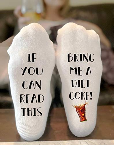 If You Can Read This Bring Me Novelty Socks - Diet Coke -Funny Socks For Men and Women Christmas Stocking Stuffers Gift Ideas