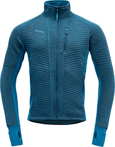 Devold - Tinden Spacer Jacket - Giacca di lana, taglia S, colore: Blu