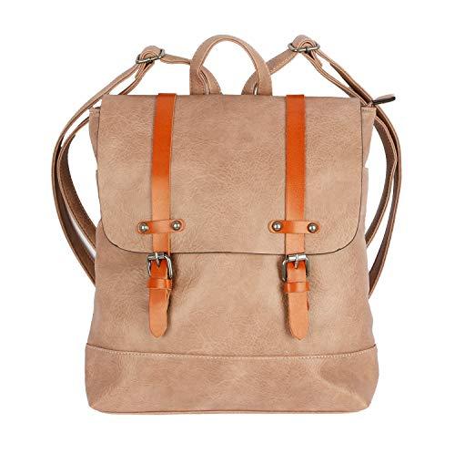 Flora& Co Rucksack 6701 Daypack Tasche Elegant Umhängetasche Schulrucksäcke Schultertasche (Altrosa)